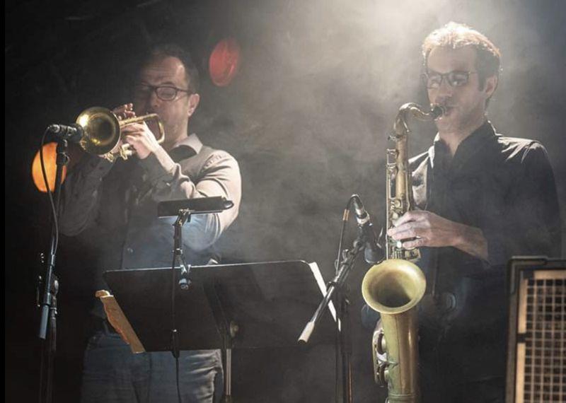 Damien Prud'homme (Tenorsaxophon) und Patrice Lerech (Trompete)